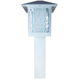 3+Projects Lawn Gate Lamp Outdoor / Garden Lamp / Lampu Taman 3+FR8706A-WH