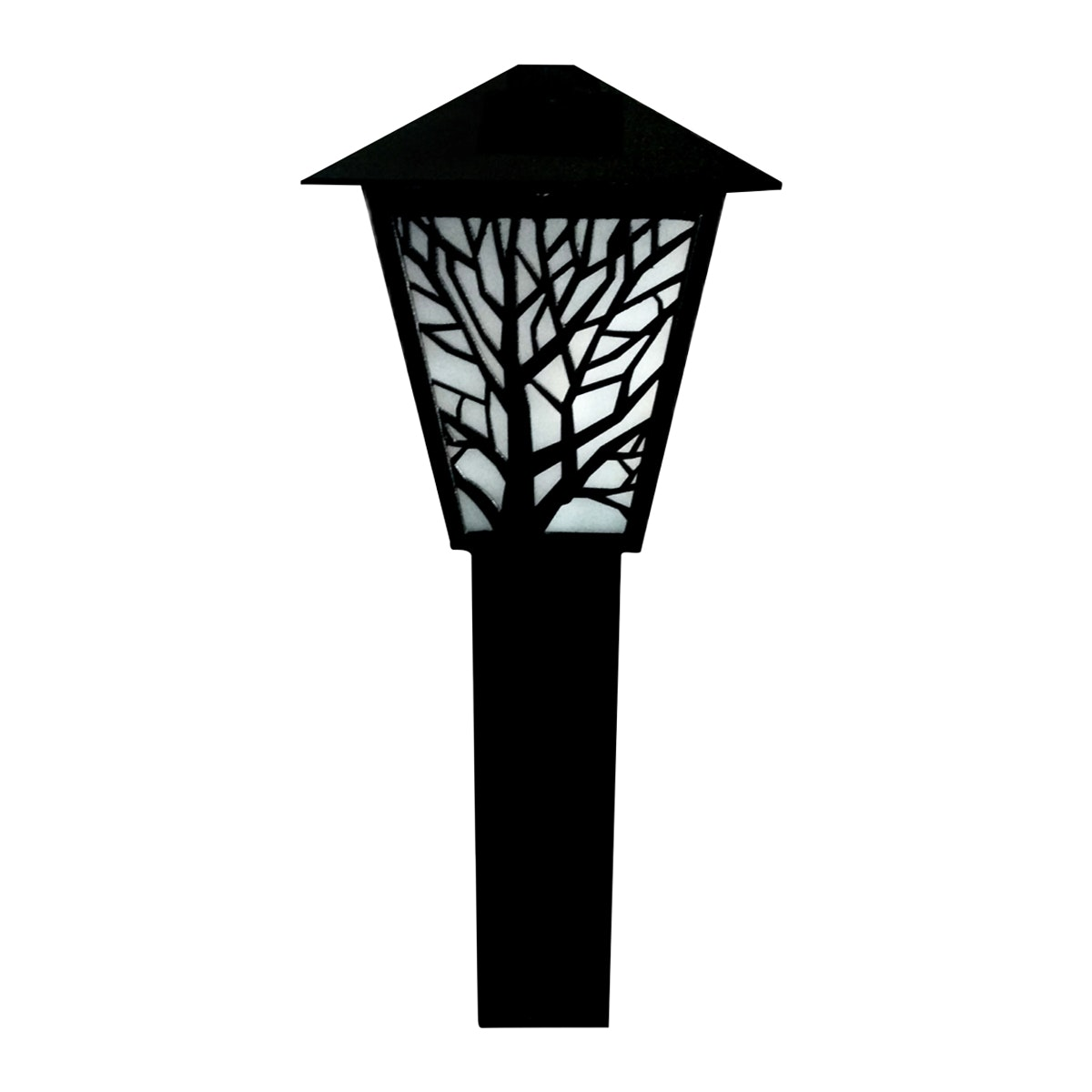 3+Projects Lawn Gate Lamp Black E27 socket, Glass/PC diffuser,aluminium material, IP44 226*600 MAX 40W,CFL