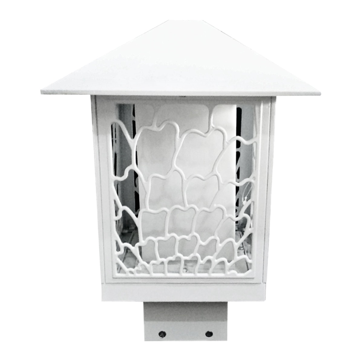 3+Projects Lawn Gate Lamp White E27 socket, PC diffuser,aluminium material, IP44 226*304 MAX 40W,CFL