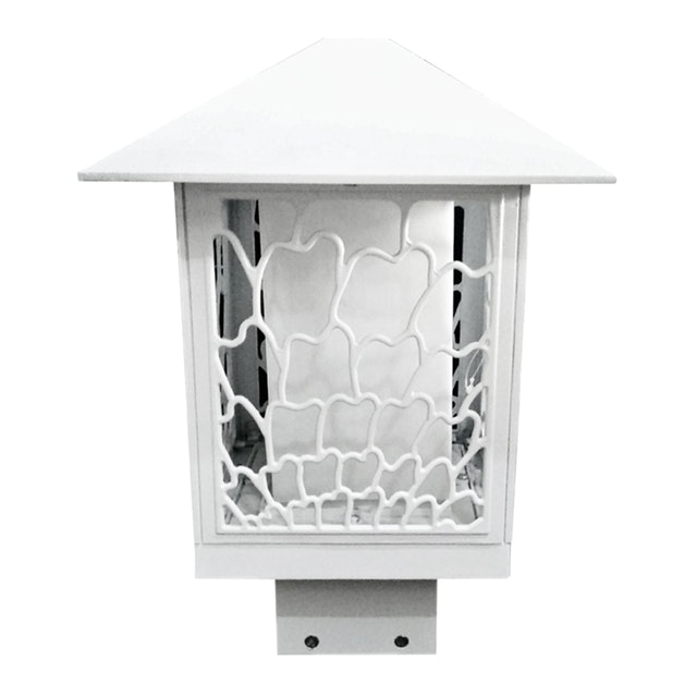 3+Projects Lawn Gate Lamp White E27 Socket, PC Diffuser,Aluminium Material,IP44 226*304MAX 40W,CFL