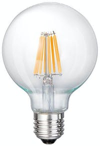 3+Projects LED Bulb Globe G95 6W E27 2200K Warm White CandleLight Dimmable