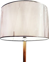 3+Projects Lampu Lantai Bracha Floor Lamp in Wood & Fabric Shade 3+MTMK-01-F