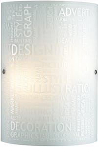 3+Projects Lampu Dinding/Wall Lamp White Glass 3+DL-WL1206-EN-AH
