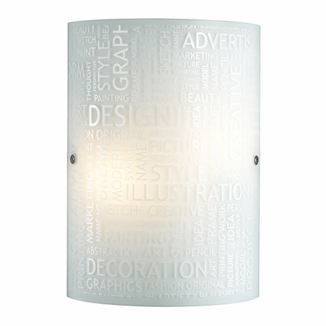 3+Projects Lampu Dinding / Wall Lamp White Glass 3+DL-WL1206-EN-AH