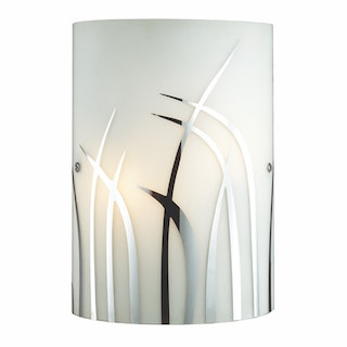 3+Projects Lampu Dinding / Wall Lamp White Chrome Glass 3+DL-WL1206-GAC-AH