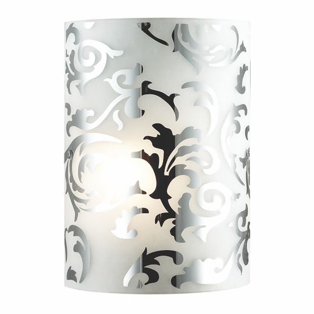 3+Projects Lampu Dinding / Wall Lamp White Chrome Glass 3+DL-WL1206-RCC-AH