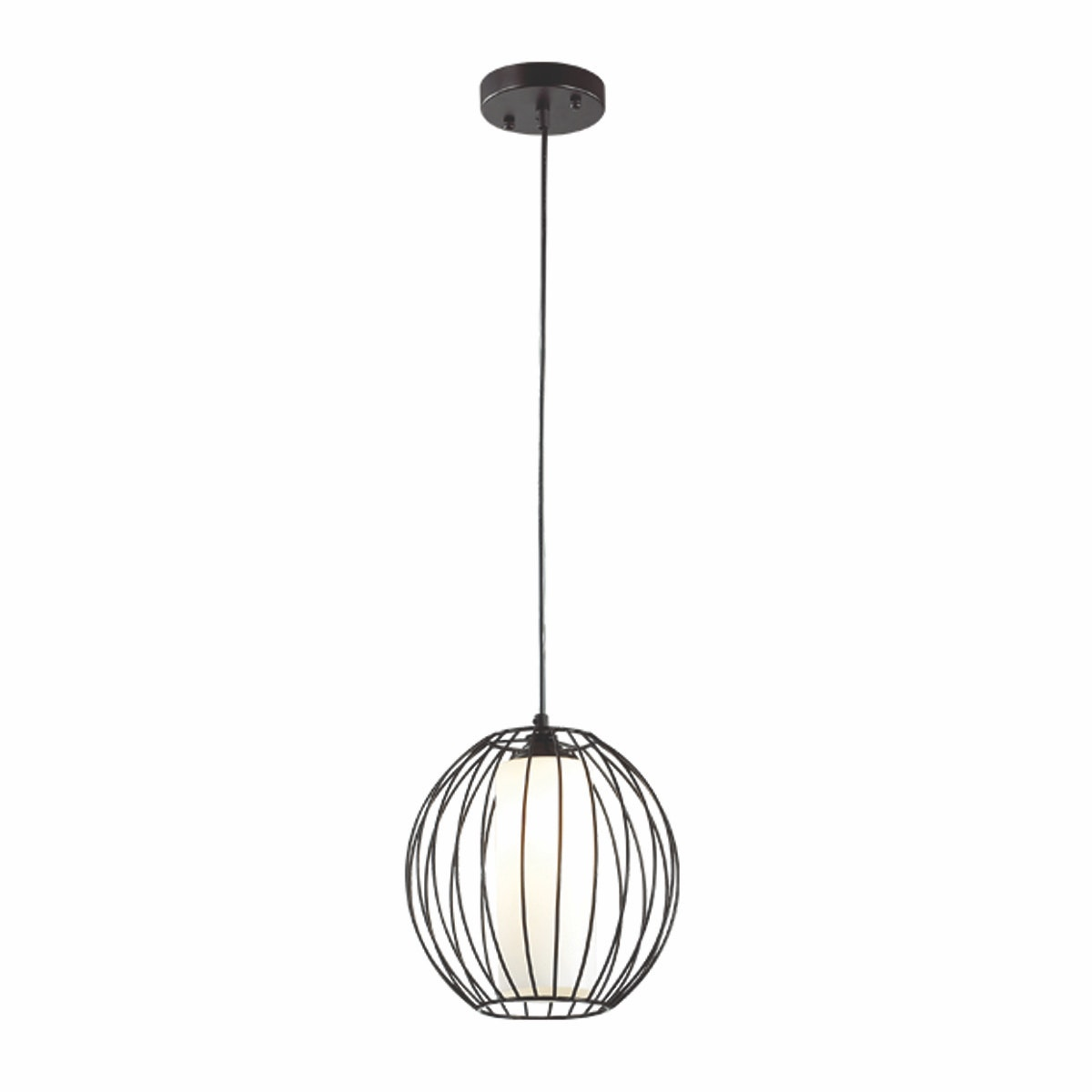 3+Projects Lampu Gantung Pendant Lamp Steel and Glass Black 3+DL-P2659S-BL-AH