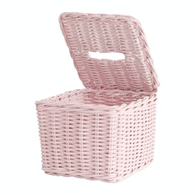 The Storage Shoppe Rattan Tissue Box Pink