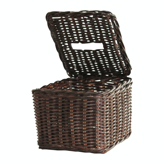 The Storage Shoppe Rattan Tissue Box Brown