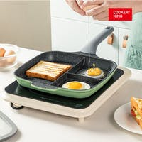 Cooker King 3in1 Multifunction Grill Square Pan 26cm Breakfast Pan