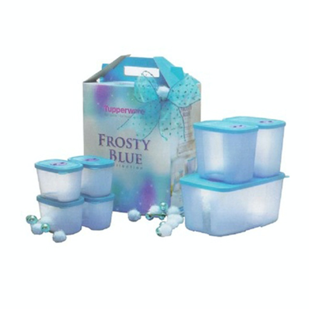 Jual Tupperware Frosty Blue Collection Pocket Freezermate With Dial
