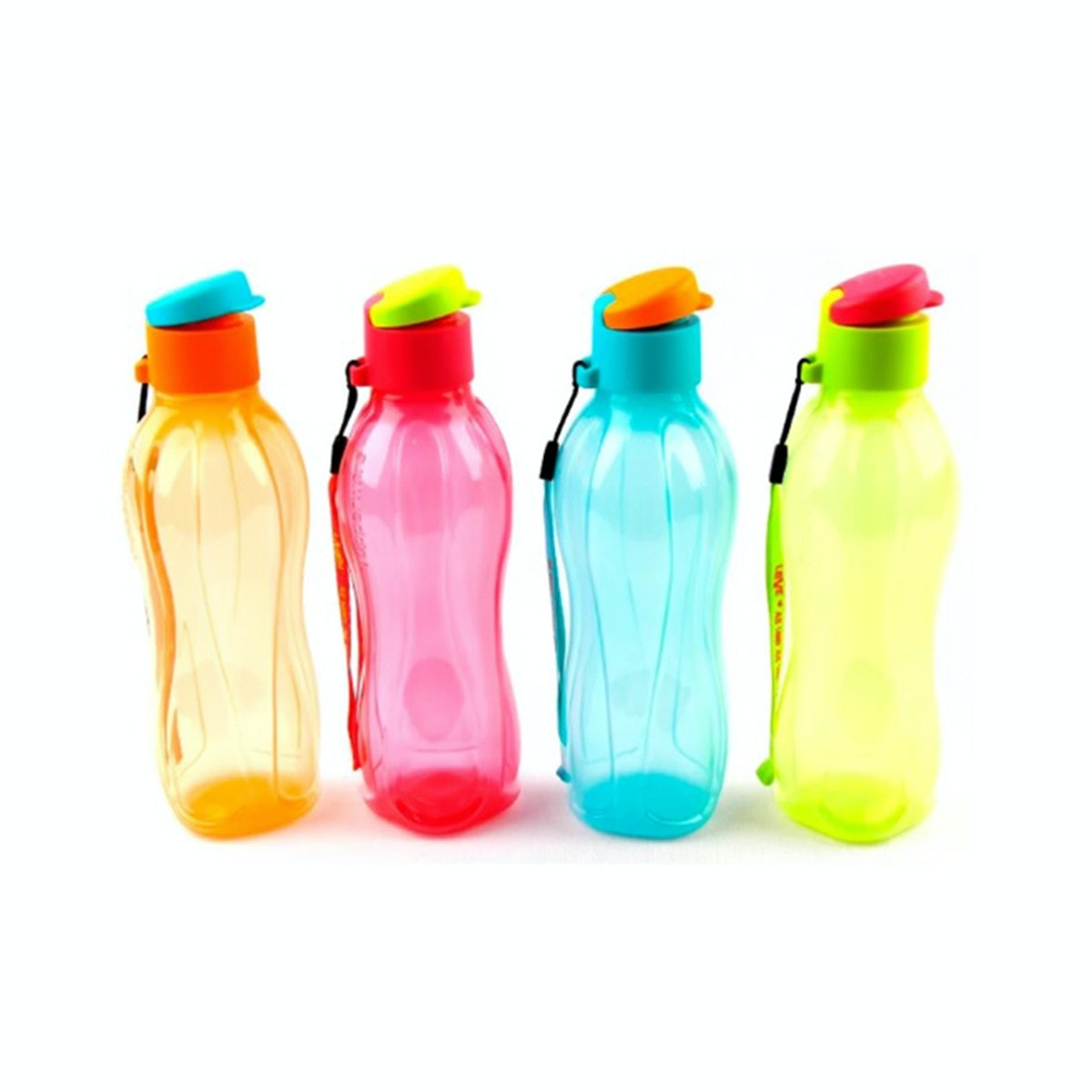 Tupperware Eco Bottle 500ml dan Strap (4pcs)