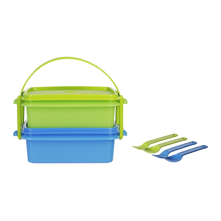 Tupperware Small Carry All with Cutlery