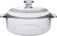 POR Small Multi Purpose Casserole w/ Small Glass Lid 1lt