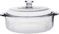 POR Medium Multi Purpose Casserole w/ Medium Glass Lid 2lt