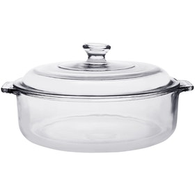 POR Large Multi Purpose Casserole w/ Large Glass Lid 3lt