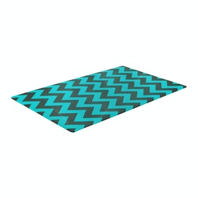 TOPSBRIDGE Karpet Daedong Animals & Blue Zig Zag 135X105X1.4cm