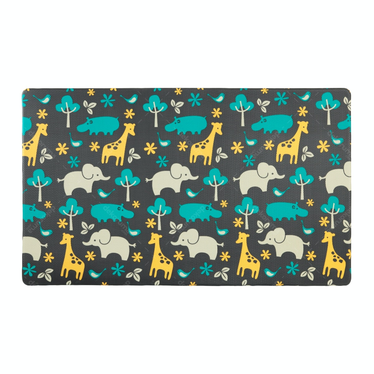 TOPSBRIDGE Karpet Daedong Animals & Blue Zig Zag 185X140X1.4cm