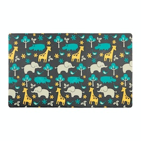 TOPSBRIDGE Karpet Daedong Animals & Blue Zig Zag 210X140X1.4cm