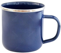 UCHII Enamel Magu Vintage Solid Color Mug - Dark Blue