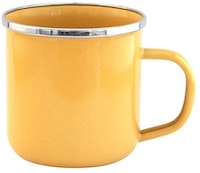UCHII Enamel Magu Vintage Solid Color Mug - Cheerful Yellow