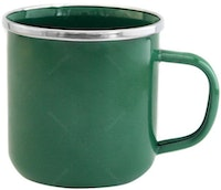 UCHII Enamel Magu Vintage Solid Color Mug - Relaxing Green