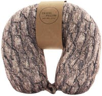 UCHII Travel Neck Pillow Bantal Leher - Combined Brown Wood