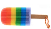 UCHII Bath Sponge Colorful - Ice Cream Rainbow