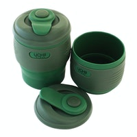 UCHII Silicone Foldable Travel Coffee Cup | Tumbler Gelas Kopi Lipat Army Green