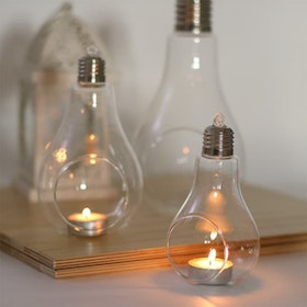 UCHII Decorative Glass Light Bulb Hanging Holder - Lampu Gantung S