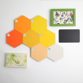 UCHII Hexagon Wallpaper Decorative 1 meter persegi 68's Stiker Dinding