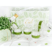 UCHII Eid Hampers Lebaran Parcel Premium Glassware Gift Box Set Green