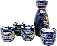 UCHII Ceramic Japan Sake Bottle Cup Set | Paket Cangkir Botol Keramik