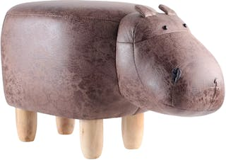 UCHII Animal Portable Sofa | Bangku Karakter Hippo- Dark Brown