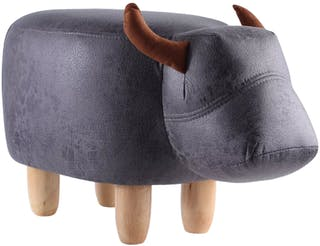 UCHII Animal Portable Sofa | Bangku Karakter Anak Bull - Dark Grey