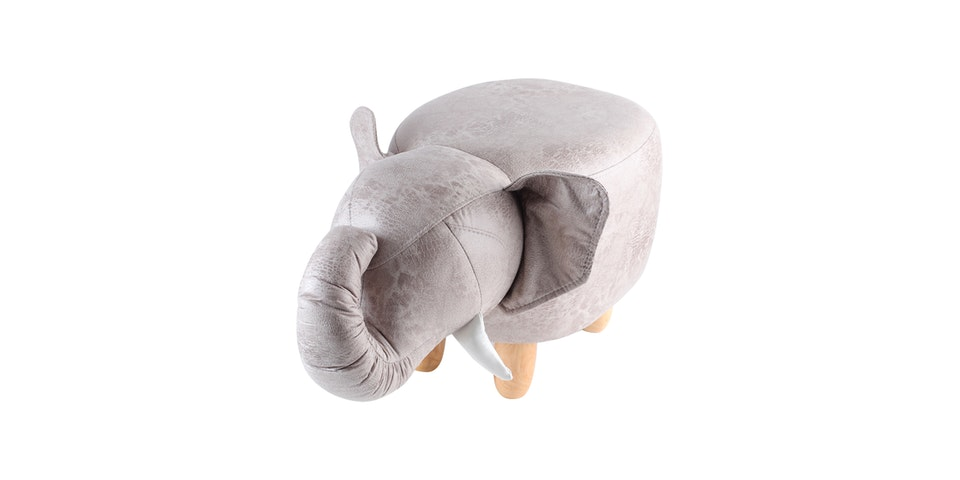UCHII Animal Portable Sofa Bangku Karakter Anak Elephant - Light Brown