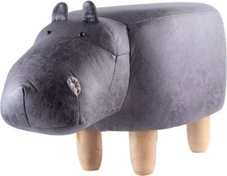 UCHII Animal Portable Sofa | Bangku Karakter Hippo- Dark Grey