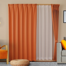 Univers Tirai Gorden Kelly Orange - 45x150cm (2 Pcs)