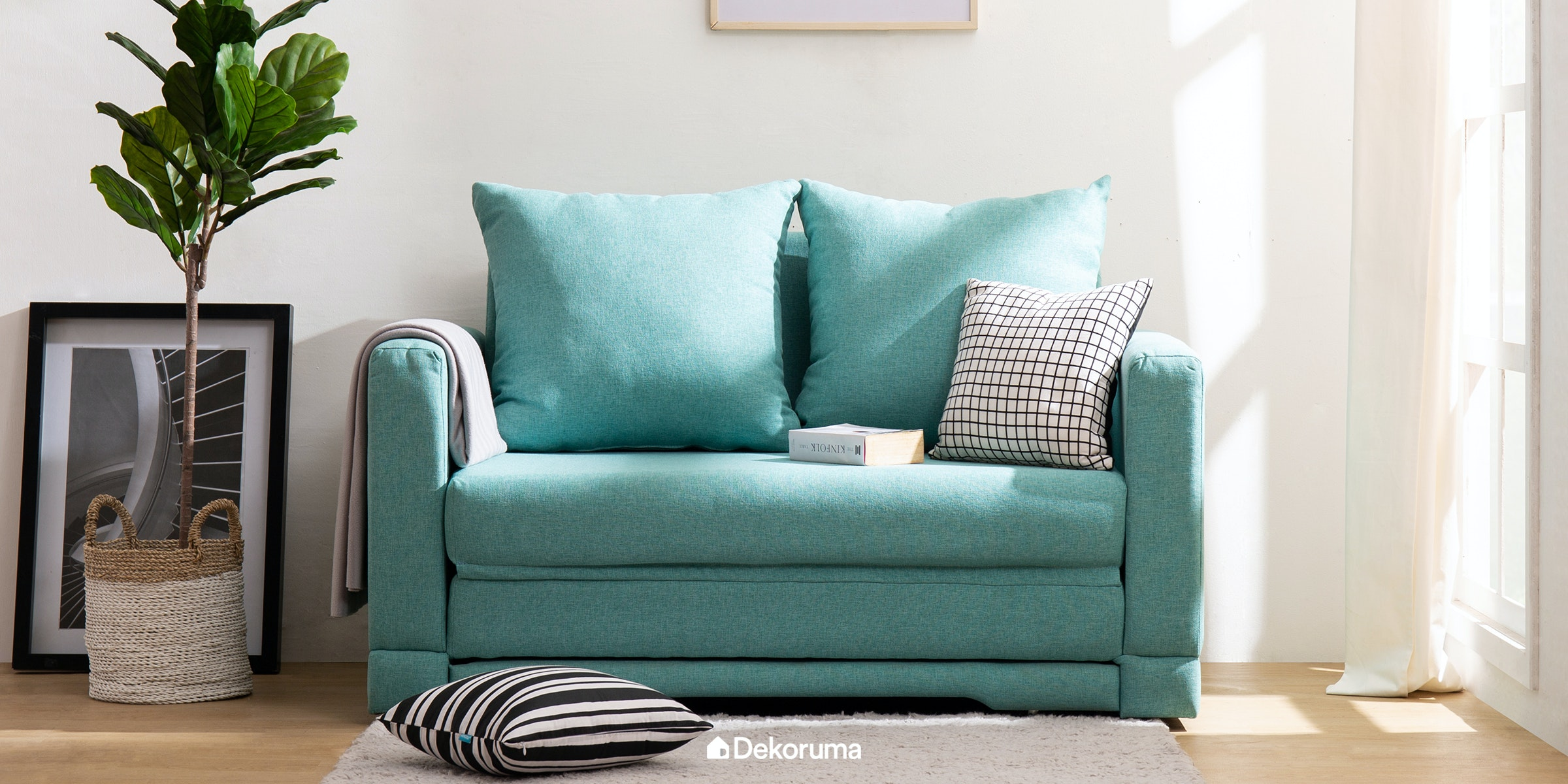 Voda Collection Fernando Sofa Bed Biru Teal