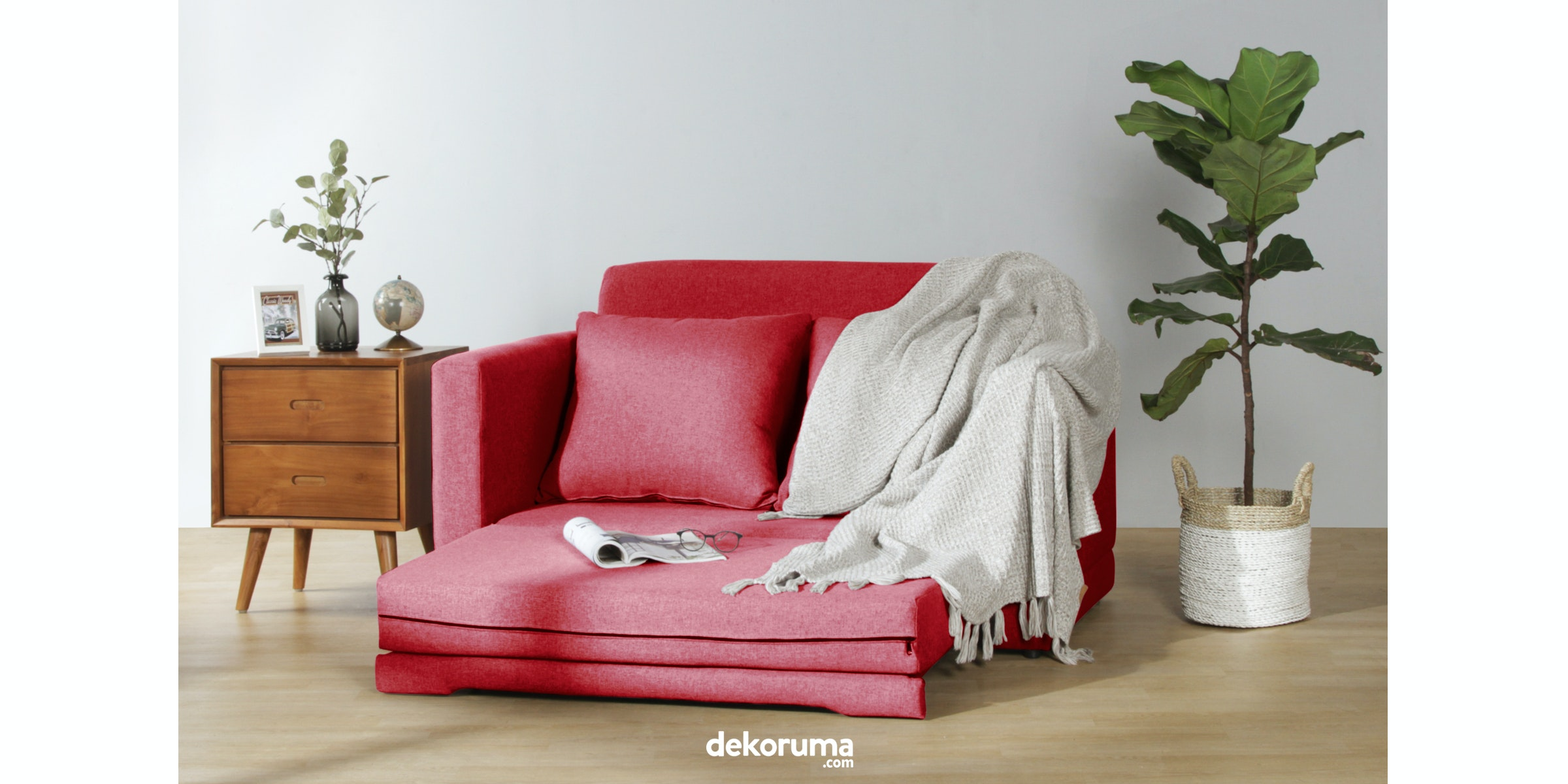 Voda Collection Fernando Sofa Bed Merah Ruby