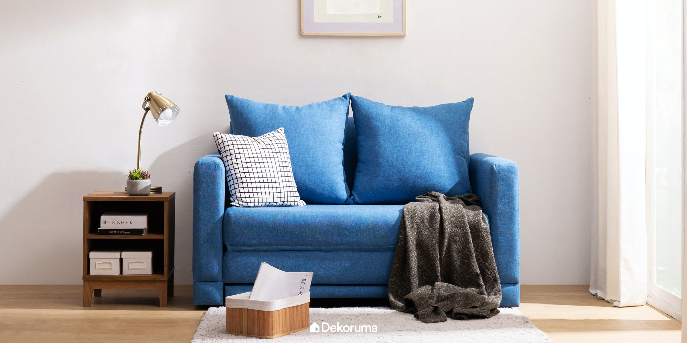 Voda Collection Fernando Sofa Bed Biru Jay