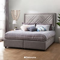Ananta Valerie Bed Frame Queen + Free Bench Abu-abu Uk. 120 cm