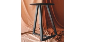 Vidia Home Leaning T Side Table in Walnut