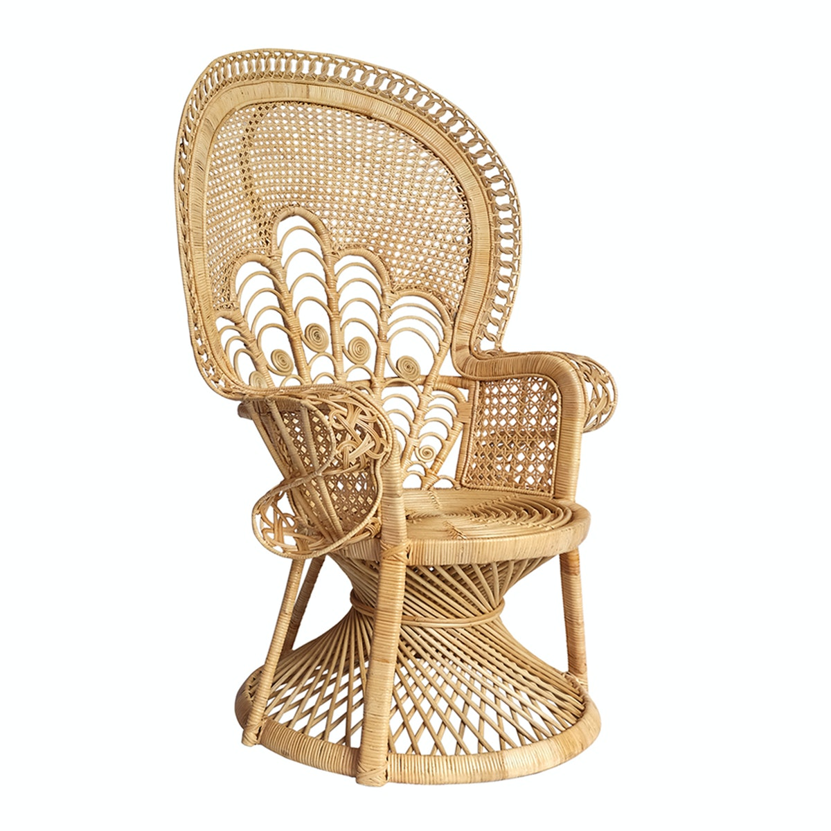 Vie For Living Peacock Chair Woven