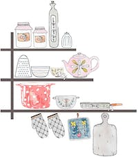 Iwallyou Wall Sticker Kitchen Tools