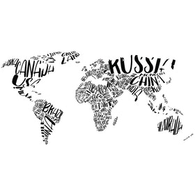 Iwallyou Wall Sticker Wording Worldmap