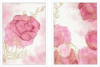 Iwallyou Wall Poster Set Peacefully Pink Peony A3+Frame