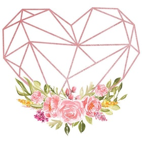 Iwallyou Wall Sticker Pink Geometric Heartbeat