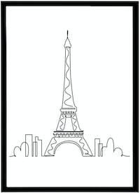 Iwallyou Wall Poster I Dream of Eiffel