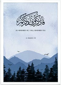 Iwallyou Wall Poster On Thinking of Allah